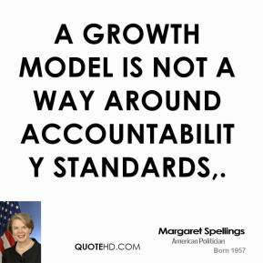 A growth model is not a way around accountability standards.