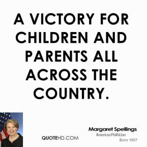 a victory for children and parents all across the country.