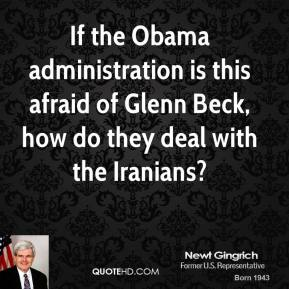 If the Obama administration is this afraid of Glenn Beck, how do they deal with the Iranians?
