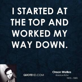 I started at the top and worked my way down.