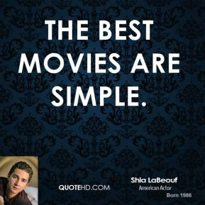The best movies are simple.