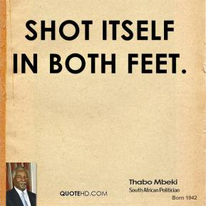 Shot itself in both feet.