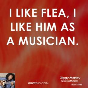 I like Flea, I like him as a musician.