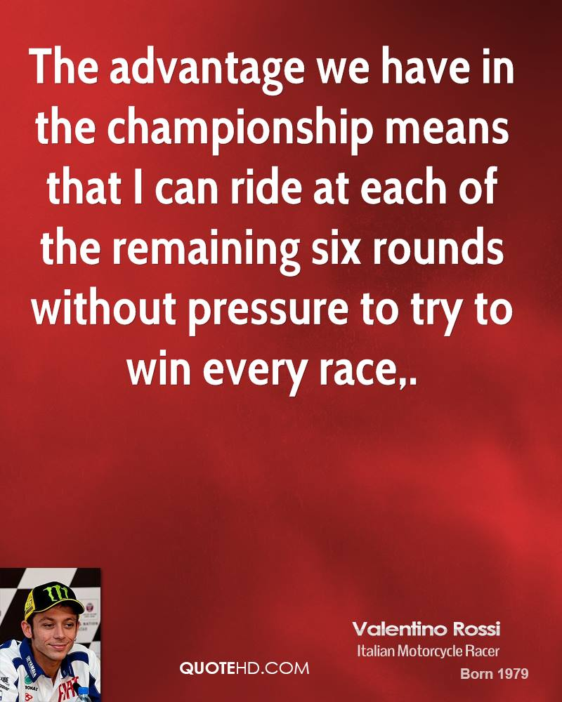 The advantage we have in the championship means that I can ride at each of the remaining six rounds without pressure to try to win every race.