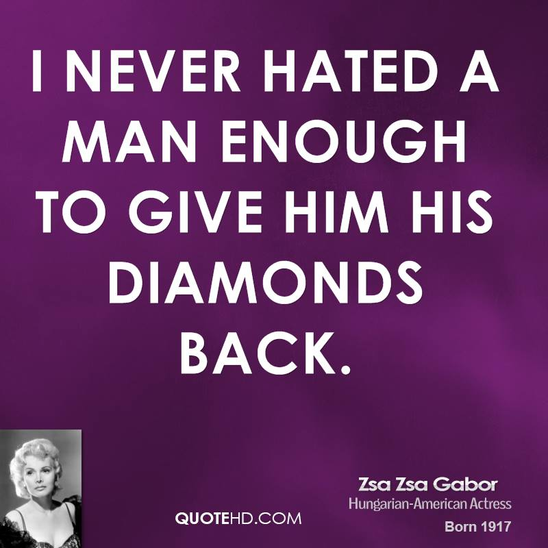 Zsa Zsa Gabor Quotes Enchanting Zsa Zsa Gabor Quotes  Quotehd