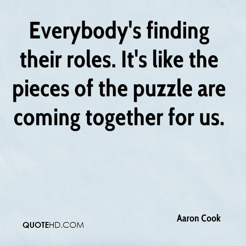 Puzzle Quotes Stunning Aaron Cook Quotes QuoteHD