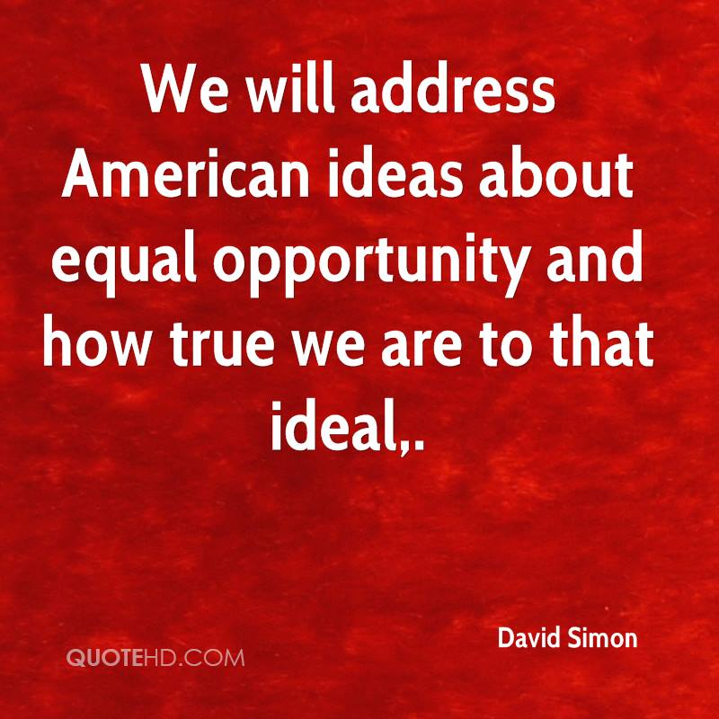 the evasive idea of equal opportunity in america