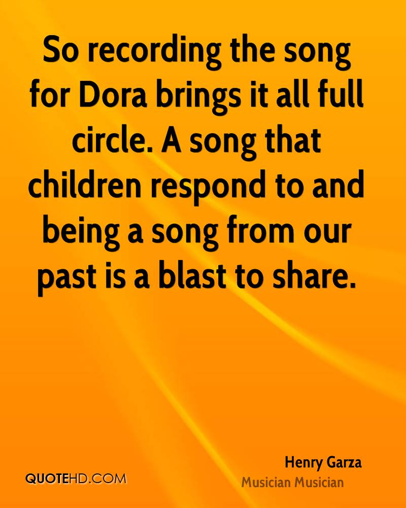 So recording the song for Dora brings it all full circle. A song that children respond to and being a song from our past is a blast to share.