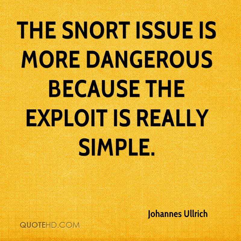 The Snort issue is more dangerous because the exploit is really simple.