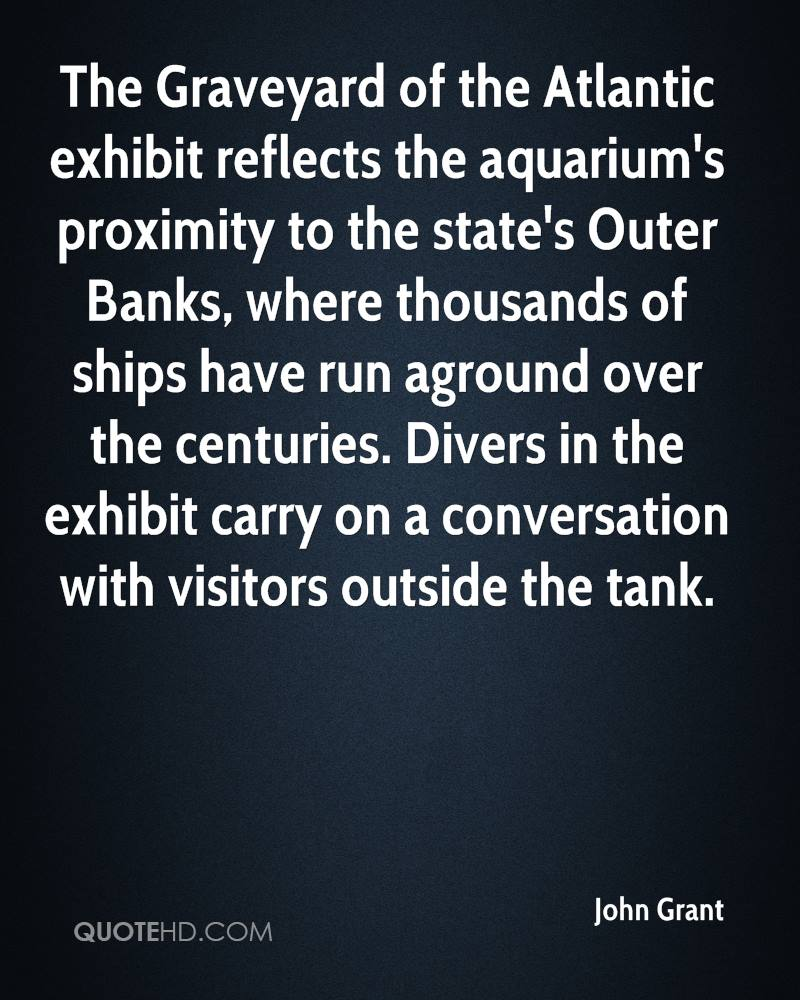 The Graveyard of the Atlantic exhibit reflects the aquarium's proximity to the state's Outer Banks, where thousands of ships have run aground over the centuries. Divers in the exhibit carry on a conversation with visitors outside the tank.