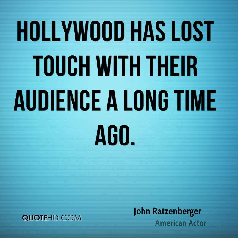 Hollywood has lost touch with their audience a long time ago.