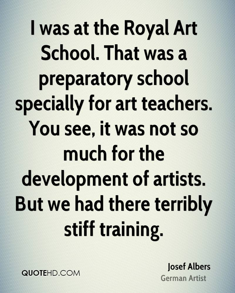 I was at the Royal Art School. That was a preparatory school specially for art teachers. You see, it was not so much for the development of artists. But we had there terribly stiff training.