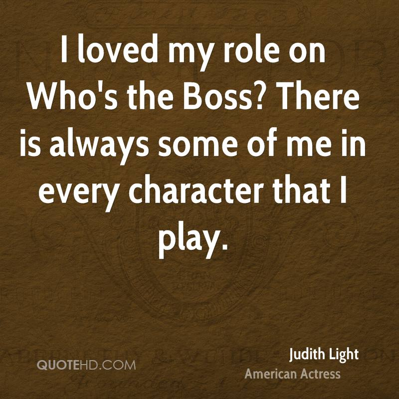 I loved my role on Who's the Boss? There is always some of me in every character that I play.