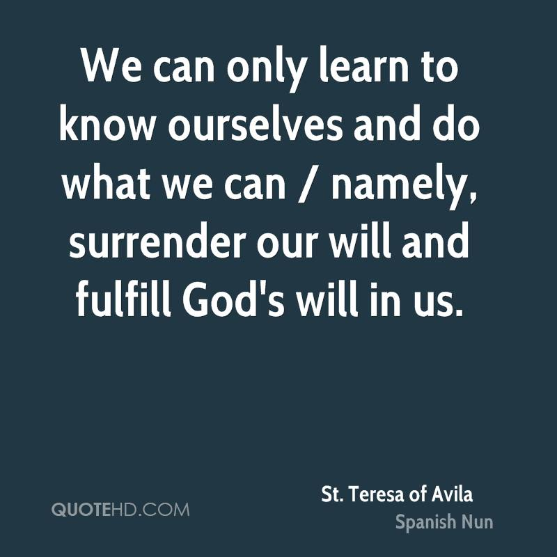 do we know ourselves How do we gain true humility how well do we really know ourselves recently, for spiritual reading i've been reading st teresa of avila's interior castle it's a book i tried to read before, but it was a bit forced, and never had much impact.