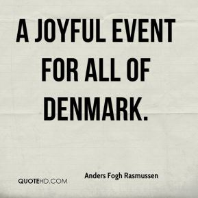 a joyful event for all of Denmark.