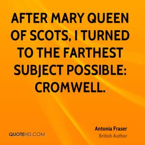 After Mary Queen of Scots, I turned to the farthest subject possible: Cromwell.