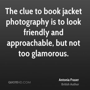 The clue to book jacket photography is to look friendly and approachable, but not too glamorous.