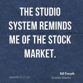 The studio system reminds me of the stock market.