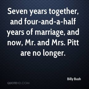 Billy Bush - Seven years together, and four-and-a-half years of marriage, and now, Mr. and Mrs. Pitt are no longer.