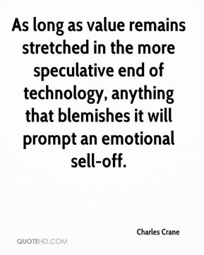 As long as value remains stretched in the more speculative end of technology, anything that blemishes it will prompt an emotional sell-off.