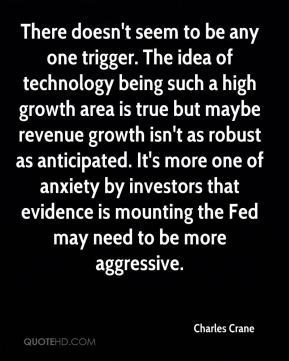 There doesn't seem to be any one trigger. The idea of technology being such a high growth area is true but maybe revenue growth isn't as robust as anticipated. It's more one of anxiety by investors that evidence is mounting the Fed may need to be more aggressive.