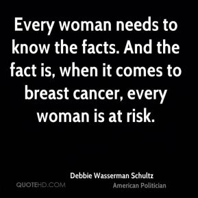 Every woman needs to know the facts. And the fact is, when it comes to breast cancer, every woman is at risk.