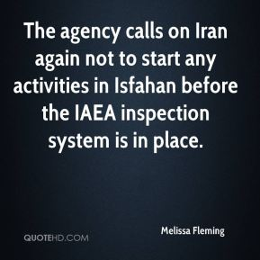 The agency calls on Iran again not to start any activities in Isfahan before the IAEA inspection system is in place.
