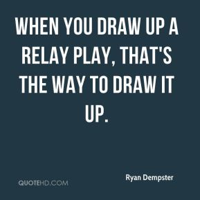 When you draw up a relay play, that's the way to draw it up.