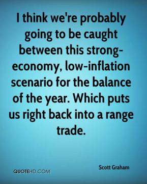 Scott Graham  - I think we're probably going to be caught between this strong-economy, low-inflation scenario for the balance of the year. Which puts us right back into a range trade.