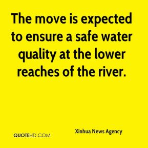 The move is expected to ensure a safe water quality at the lower reaches of the river.