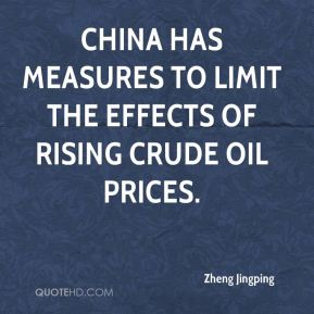 China has measures to limit the effects of rising crude oil prices.