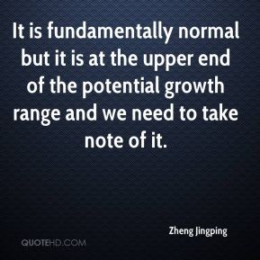 Zheng Jingping  - It is fundamentally normal but it is at the upper end of the potential growth range and we need to take note of it.