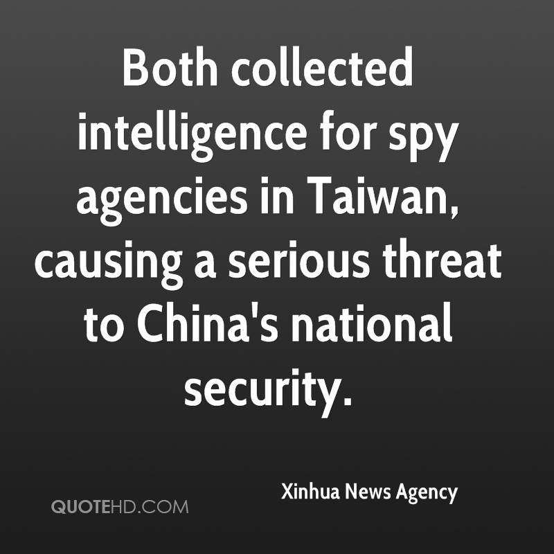 Both collected intelligence for spy agencies in Taiwan, causing a serious threat to China's national security.