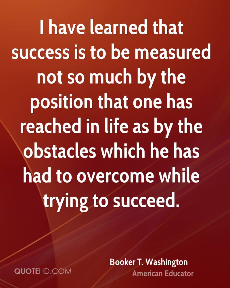Booker T Washington Success Quotes Quotehd