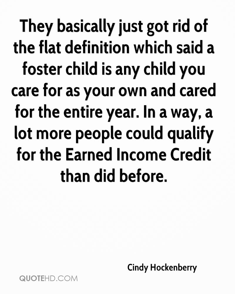 They Basically Just Got Rid Of The Flat Definition Which Said A Foster  Child Is Any