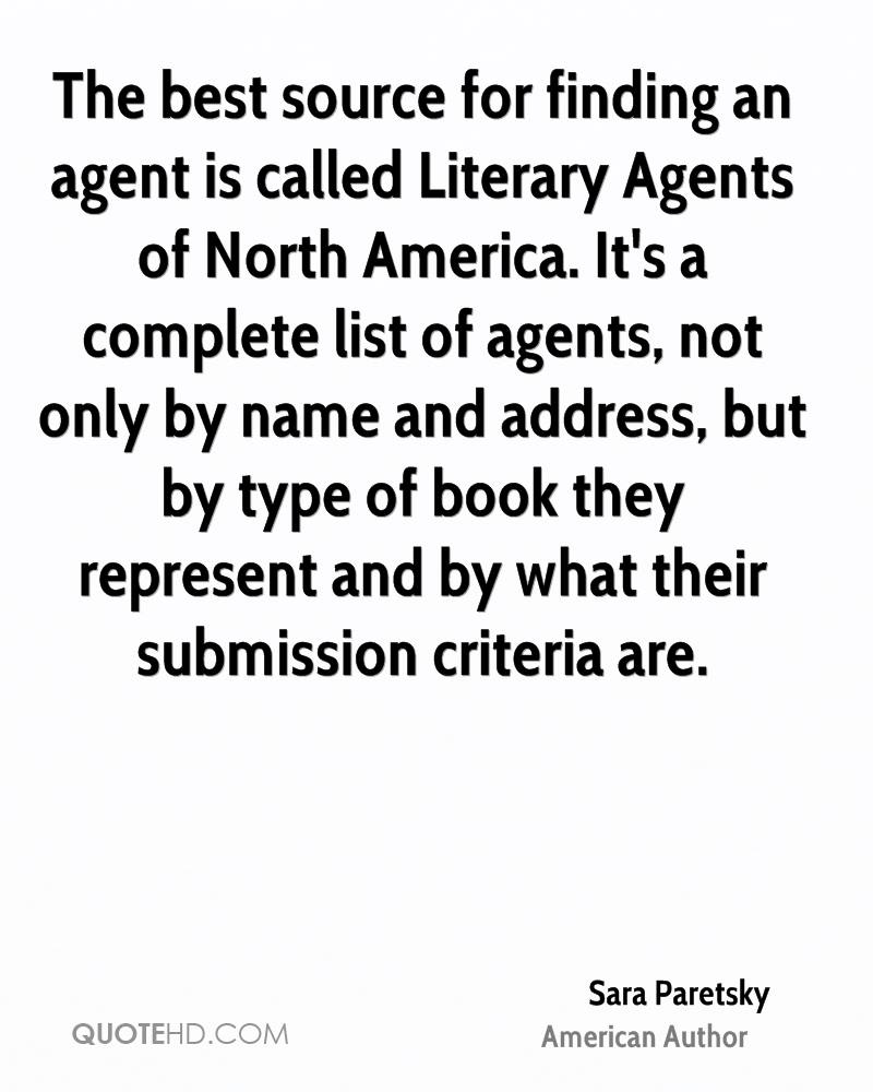 The best source for finding an agent is called Literary Agents of North America. It's a complete list of agents, not only by name and address, but by type of book they represent and by what their submission criteria are.