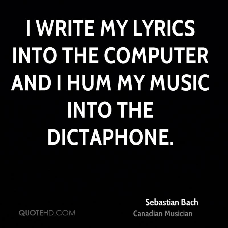 Hum Quote Gorgeous Sebastian Bach Quotes QuoteHD