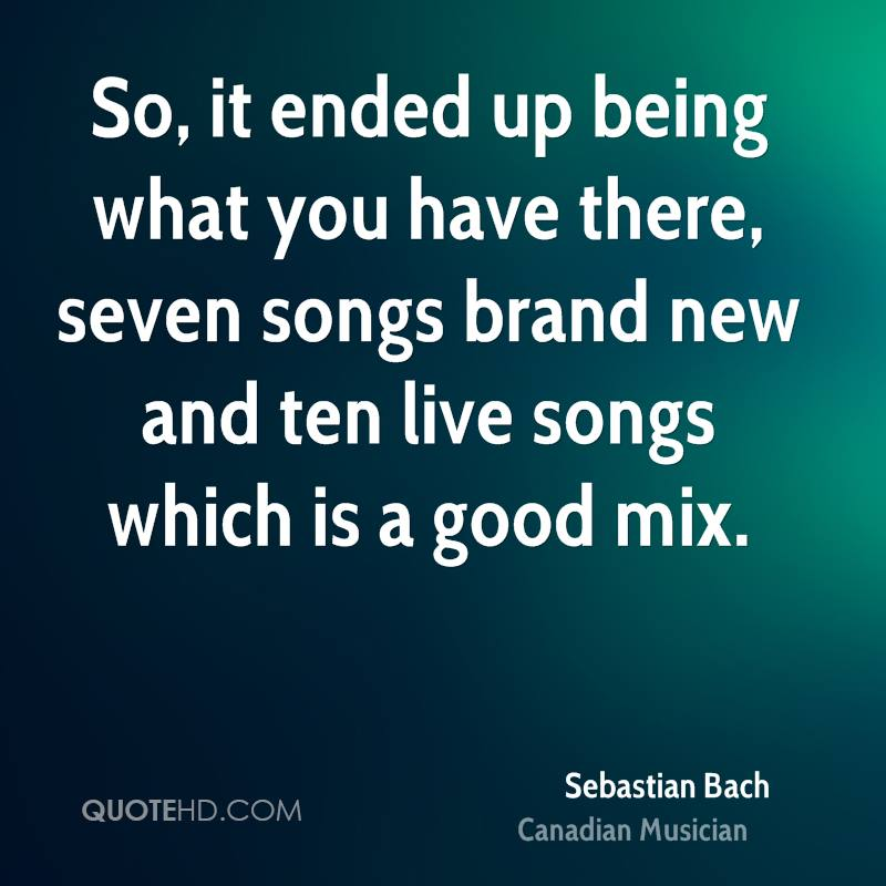 So, it ended up being what you have there, seven songs brand new and ten live songs which is a good mix.