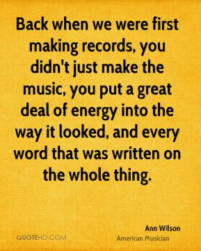 Back when we were first making records, you didn't just make the music, you put a great deal of energy into the way it looked, and every word that was written on the whole thing.