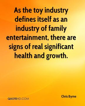 As the toy industry defines itself as an industry of family entertainment, there are signs of real significant health and growth.