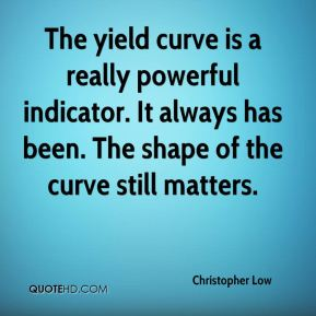 Christopher Low - The yield curve is a really powerful indicator. It always has been. The shape of the curve still matters.
