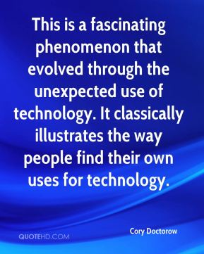 This is a fascinating phenomenon that evolved through the unexpected use of technology. It classically illustrates the way people find their own uses for technology.