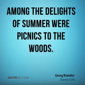 Among the delights of Summer were picnics to the woods.