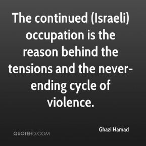 Ghazi Hamad - The continued (Israeli) occupation is the reason behind the tensions and the never-ending cycle of violence.