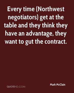Every time (Northwest negotiators) get at the table and they think they have an advantage, they want to gut the contract.