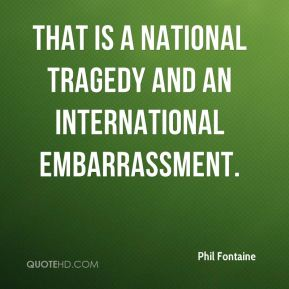 That is a national tragedy and an international embarrassment.
