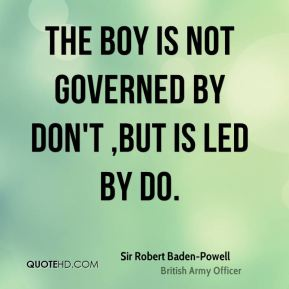 The boy is not governed by don't ,but is led by do.