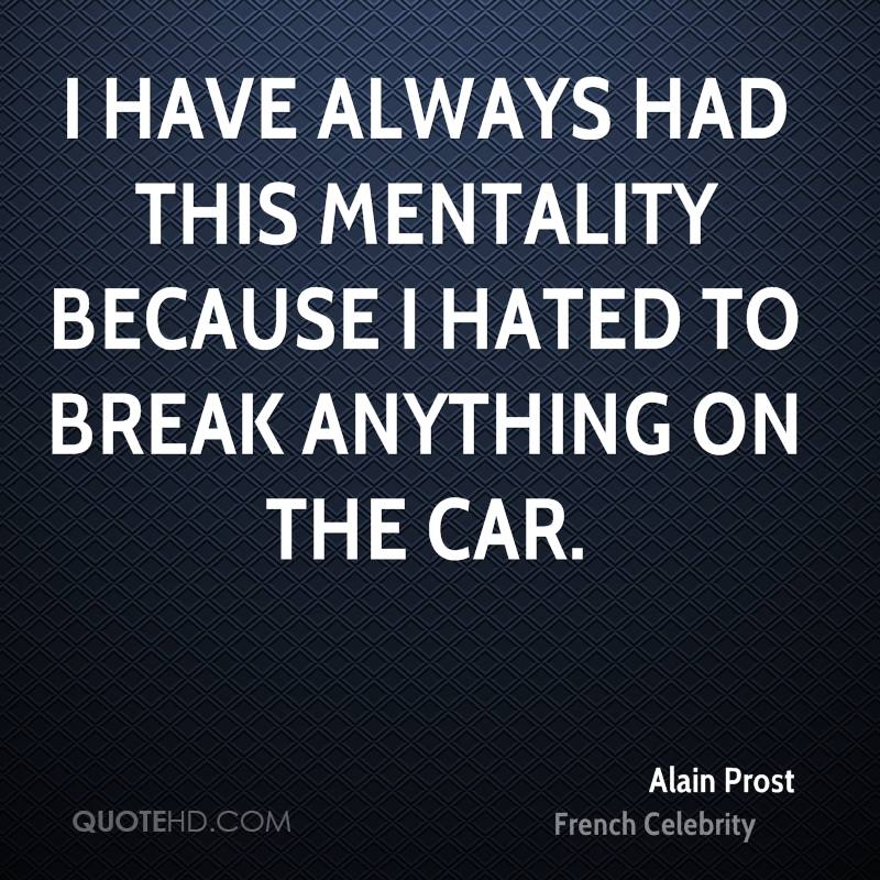 I have always had this mentality because I hated to break anything on the car.