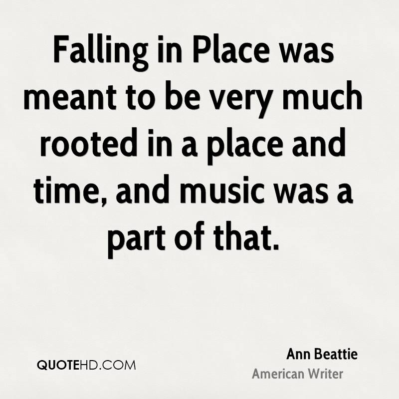 Falling in Place was meant to be very much rooted in a place and time, and music was a part of that.
