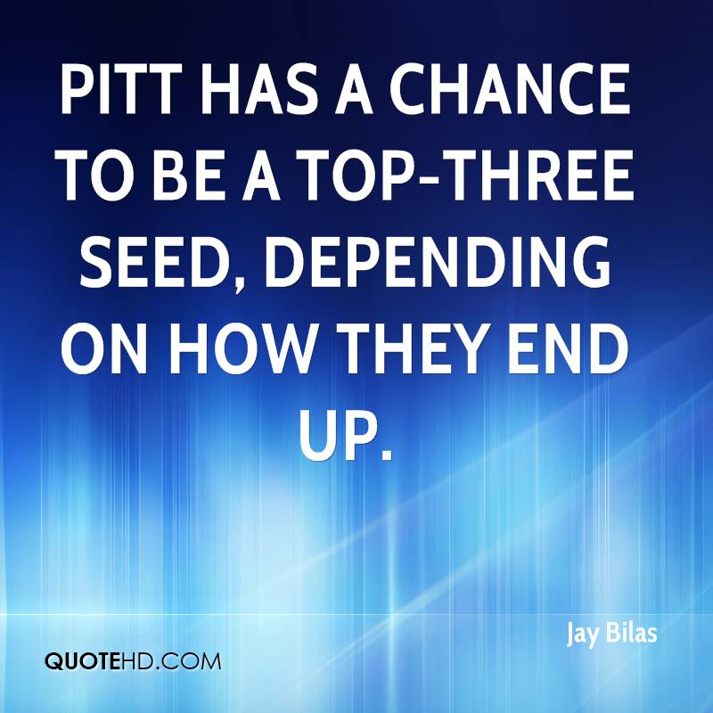 Pitt has a chance to be a top-three seed, depending on how they end up.